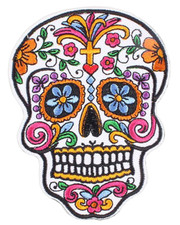 IRON ON PATCH. SUGAR SKULL