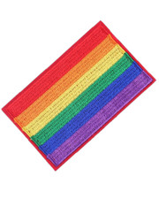 IRON ON PATCH. PRIDE FLAG