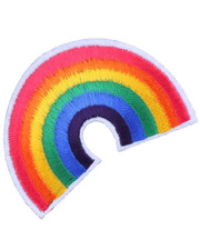 IRON ON PATCH. RAINBOW