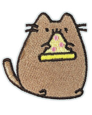 IRON ON PATCH. FAT PIZZA CAT