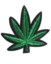 IRON ON PATCH. CANNABIS LEAF