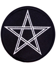 IRON ON PATCH. PENTAGRAM B