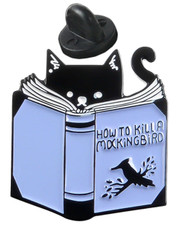 Cat - how to kill. Pin badge