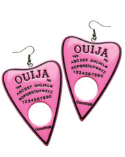 Ouija earrings. Pink