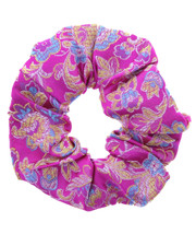 floral scrunchie. chinese pink