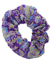 floral scrunchie. chinese purple