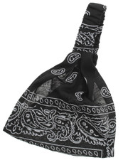 3 in 1 HAIRBAND. BLACK PAISLEY