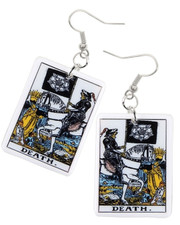 Tarot earrings. Death