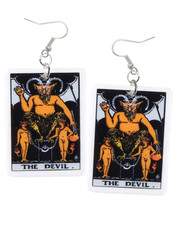 Tarot earrings. Devil