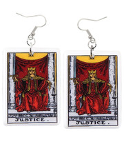 Tarot earrings. Justice