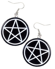 pentagram acrylic earrings