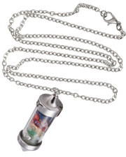 Chakra chips in bottle Necklace