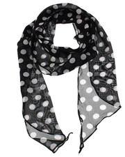 3 in 1 scarf. Polka dot black