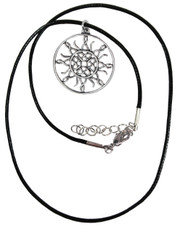 Celtic sun. Wax cord necklace