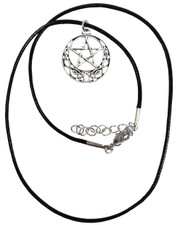 Celtic pentagram. Wax cord necklace