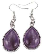 Amethyst teardrop earrings.
