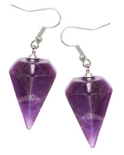 Amethyst pendulum earrings.