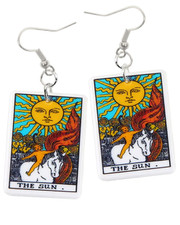 Tarot earrings. Sun