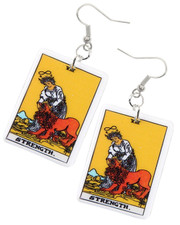 Tarot earrings. Strength