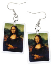 Acrylic earrings. Mona lisa