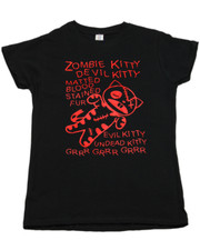 Zombie Kitty.  Ladies T-Shirt.