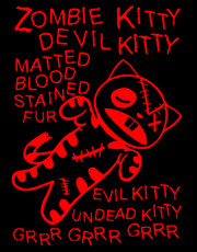 """Zombie Kitty"" Ladies T-Shirt."