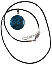 Bue onyx Disc necklace.