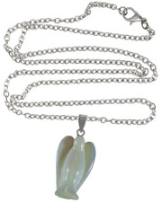 "Opalite angel on 30"" chain"
