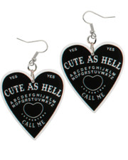 Cute as hell acrylic earrings