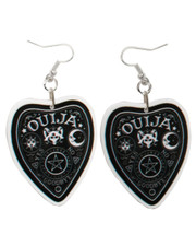 Ouija planchette acrylic earrings