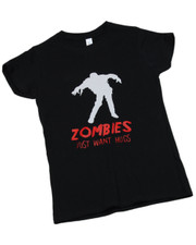 Zombies Just Want Hug.  Ladies T-Shirt.
