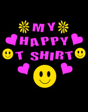 """My Happy T-Shirt"" Ladies T-Shirt."