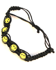 Surf Style Bracelet with Smiley Face Beads.