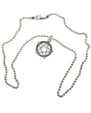 "Pentagram on chain. 20"" Ball Chain."
