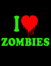 """I Love Zombies"" Ladies T-Shirt."