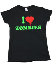 I Love Zombies. Ladies T-Shirt.