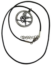 Wax Cord Necklace with Mockingjay Style Pendant.