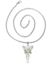 Arwen Evenstar Inspired Crystal Pendant Necklace.