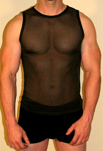 """MENS MUSCLE SHIRT"" ( 13 Sheer Color Selections)"