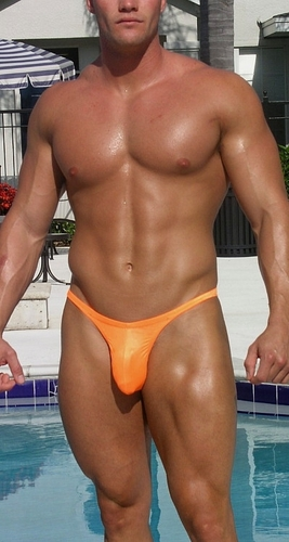 """ MENS BIKINI OR THONG"" (24 Color Selections )Customize Front Cut, Side Width, and Back Cut"