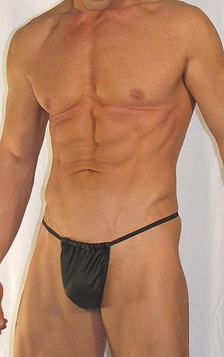 Mens Faux Leather G String Bodywear