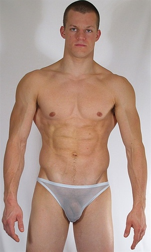 """MENS SHEER  BIKINI BRIEF OR THONG - SMOOTH FRONT (21 Color Selections) Customize Front Cut, Side Width, and Back Cut"