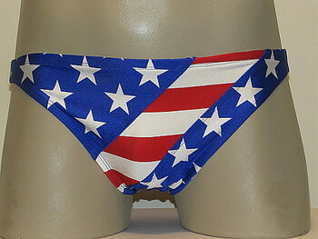 MENS RED WHITE N BLUE US SWIMWEAR