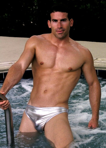 Mens Metallic Smooth Front Bikini ( 6 Color Selections)Customize Front Cut, Side Width, and Back Cut