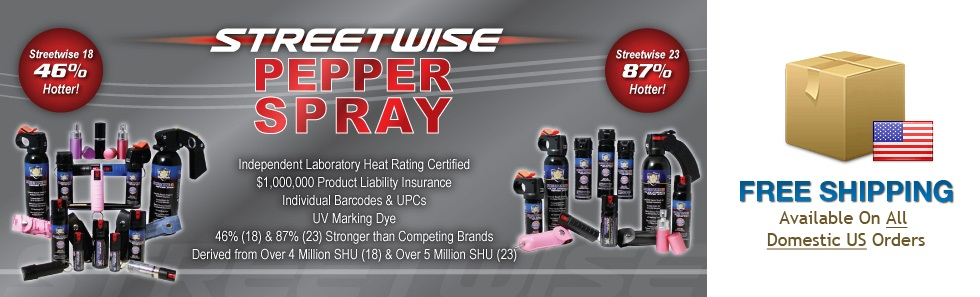 Streetwise, Pepper Spray, Free Shipping on US Orders