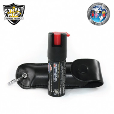 Streetwise Orphan Support Police Strength 23 Pepper Spray 1/2 oz. Softcase Black (SW3SO23)
