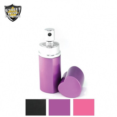 Streetwise Lab Certified 18 Pepper Spray 3/4 oz. Heart Perfume Bottle (SWPH18)