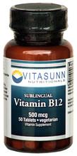 Vitamin B-12 500mcg 50 Vegi-Tablets by VItasunn Nutritionals