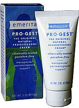 Emerita Pro-Gest Paraben-Free Progesterone Cream 56ml (2oz.) tube - - Natural HRT Alternative!