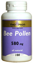 All Natural Bee Pollen 580mg 100 Capsules by Thompson